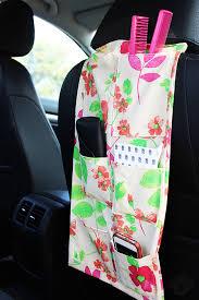 diy backseat car organizer tutorial live colorful