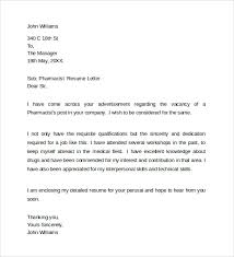 29 Pharmacist Cover Letter Template, Sample Pharmacy Letter Template ...