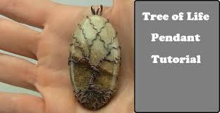 Wire Wrap Dream Catcher Tutorial Tree of Life Gemstone Pendant Tutorial Wire Wrap Cabochon no holes 57