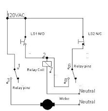 cr4 thread proper way of wiring 8pin 120ac volts coil relay 6 Pin Relay Wiring Diagram when the normally open limit switch ls1 is flagged, the motor control relay coil will be energized and will close the relay contact 's 1 & 3 and 6 & 8 6 pin relay wiring diagram