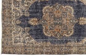 vintage overdyed turkish rug 1960s 5