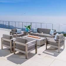 seats 6 people fire pit patio sets