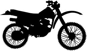 Silhouet Motorcross Silhouetten En Contour