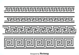 key black border vector sets free area rug greek