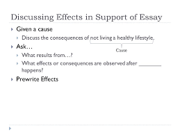 cause and effect purpose of cause and effect iuml frac purpose discussing effects in support of essay iuml129frac12 given a cause iuml129frac12 discuss the consequences of not