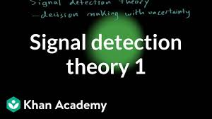 Signal detection theory - part 1 (video ...