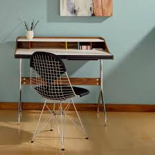 contemporary office chair fabric leather metal eames wire