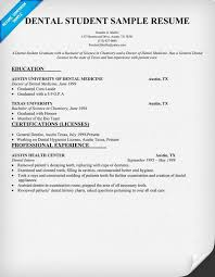 Dental Student Resume