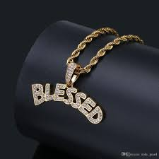 whole mens jewelry gold necklaces hip hop jewelry white color zircon iced out chains fashion alphabet pendant mens necklace in stock whole necklaces