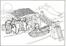 Small Picture Lego City Coloring Pages Bebo Pandco