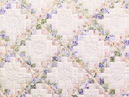 Irish Chain Quilt -- great carefully made Amish Quilts from ... & ... Rose Lavender and Green Floral Irish Chain Crib Quilt Photo 2 ... Adamdwight.com