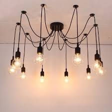 free shipping silicone colorful pendant lights diy multi color e27 bulb holder lamps 10 arms cable lighting pendants