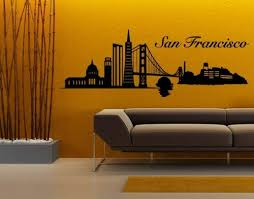 Browse our selection of san francisco wall tapestries and find the perfect design for you—created by our community of independent artists. Amazon Com San Francisco City Skyline Wall Decal By Style Apply Wall Sticker Vinyl Wall Art Home Decor Wall Mural 1327 39in X 14in Black Home Kitchen