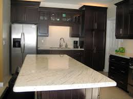 Cashmere White Granite Touches Kitchen Interior with Unlimited ...