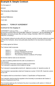 Supply Contract Templates 24 Simple Contract Template Retailresumes 7