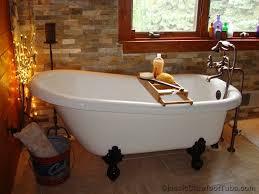 60 acrylic slipper clawfoot tub