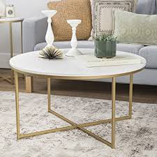faux marble coffee table. WE Furniture 36\u0026quot; Coffee Table X-Base - Faux Marble/Gold Marble C