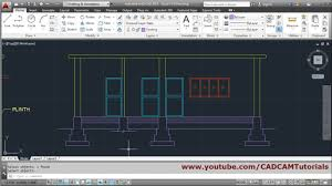 autocad house section drawing tutorial 1