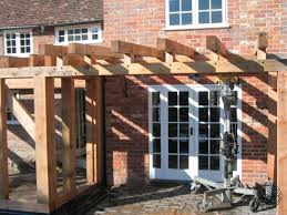 Small Kitchen Extensions Construction Open Bergola Small Extension Casestudy Douglasfir