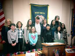 voice of democracy archives vfw post and auxiliary commander blossey congratulates student winners