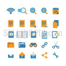 creative furniture icons set flat design. Flat Style Creative Modern Mobile Web App Concept Icon Set. Wi-fi Network Zoom Furniture Icons Set Design R