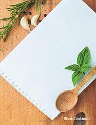 Recipe Journals 9781532870620 Blank Cookbook Notepad 105 Recipe Journals