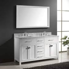 complete bathroom vanity sets. virtu usa caroline 60-inch carrara white marble double bathroom vanity set with faucets complete sets
