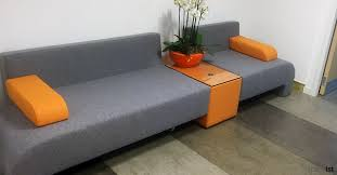 office couch. Orange Grey Office Sofa Couch O