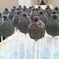 Fortnite Grenade Cake Pops Fortnite Party In 2019 Army Birthday