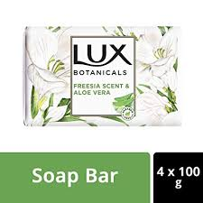 LUX Botanicals Freesia <b>Scent</b> & Aloe Vera Soap <b>Bar 100</b> g each ...