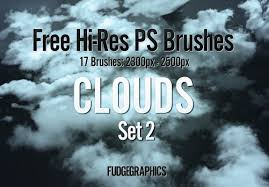 Cloud Photoshop Brushes Free Hi Res Clouds Photoshop Brush Set 2