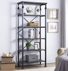 home office bookshelf.  Bookshelf Ou0026K Furniture 6Tier Open Back Bookshelf Industrial Style Bookcases  Decor Home Office Intended Bookshelf E