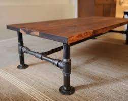 industrial pipe furniture. Rustic Industrial Pipe \u0026 OAK Wood Coffee Table Metal Legged Furniture P