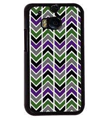 Htc M8 Designer Case Printvisa Multicolour Zigzag Pattern Back Case Cover For Htc