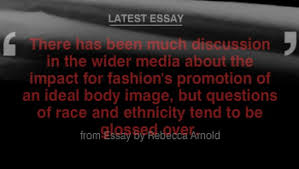 rebecca arnold essay the home of fashion film and  in her political fashion essay fashion historian and theorist dr rebecca arnold examines the subject of race and ethnicity in the fashion industry