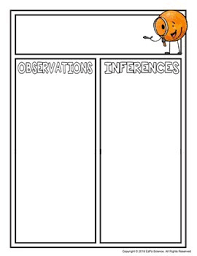 Observations And Inferences T Chart Science Graphic Organizer
