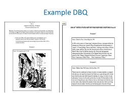 Examples Of Dbq Essays Magdalene Project Org