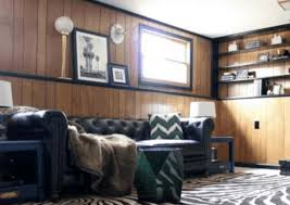 to paint wood paneling in mobile homes