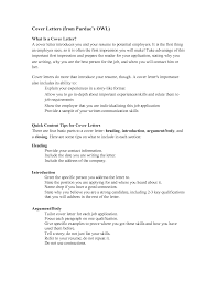 Example Of A Resume Cover Letter Resume Cover Letter Owl Purdue Therpgmovie 90