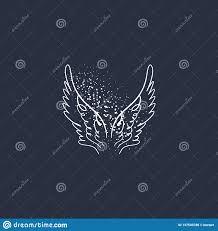 ангел птица или крылья пегаса элемент год сбора винограда