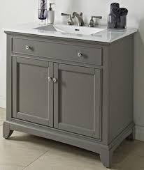 36 bathroom vanity grey. Fairmont Designs 1504-V36 Smithfield Medium Gray Bathroom Vanity 36 X 21-1/ Grey