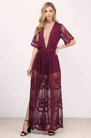 Honey Punch Honey Punch Madonna Wine Lace Romper Lace Maxi