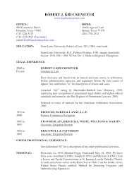 Litigation Resume email