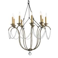 lovely niermann weeks chandelier with nine lights and faux pearl for home lighting ideas