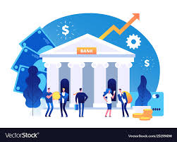 Bank Graphic Design Bank Building Banking Investment Wealth Growth