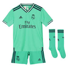 2019 2020 Real Madrid Adidas Third Full Kit Kids