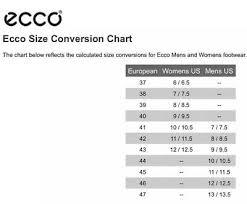 Ecco Shoe Chart