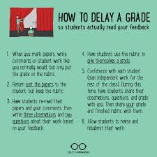 delaying the grade how to get students to feedback cult of  i always offer students the opportunity to rewrite their essay above all else my goal is to help students become better writers