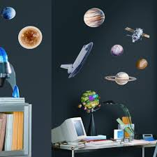 Solar System Bedroom Decor Astronomy Space Wall Decals Youll Love Wayfair