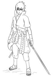 Naruto Coloring Pages 5h7k Sasuke Uchiha From Naruto Coloring Page
